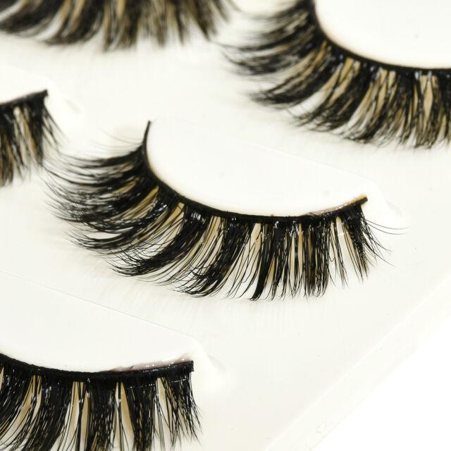 Handmade 100% Real Mink Luxurious Natural Thick Soft Lashes False Eyelashes U87
