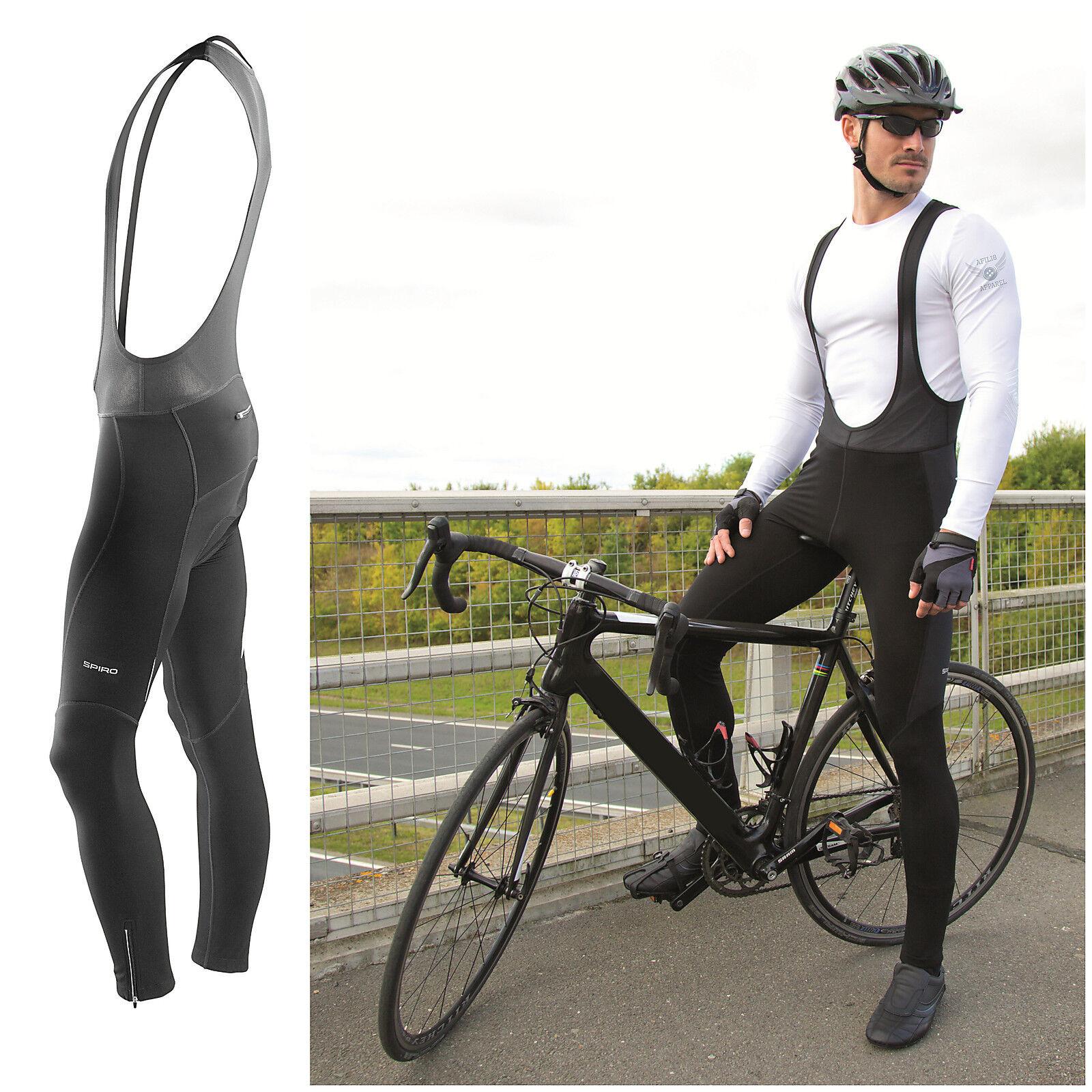 Mens Cycling Bib  Tights Thermal Long Leggings MTB Road Winter Bike Trouser  shop now