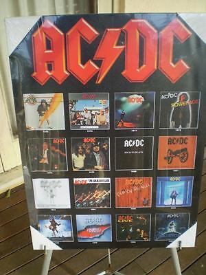 Canvas Print  AC / DC ,Album covers ,42cm x 57cm ex shop stock