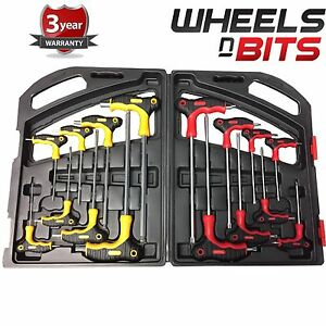 T-Handle-Wrench-Set-16pce-Torx-amp-Hex-Ball-End-Allen-Key-TRX-Star-Mechanical