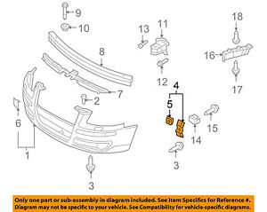 Details about AUDI OEM 06-08 A3 Front Bumper Grille-Holder Right 8P0807864A