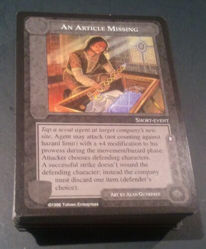 MECCG CCG Middle-earth Dark Minion Uncommon Deck Complete 60 Cards NEAR MINT/M