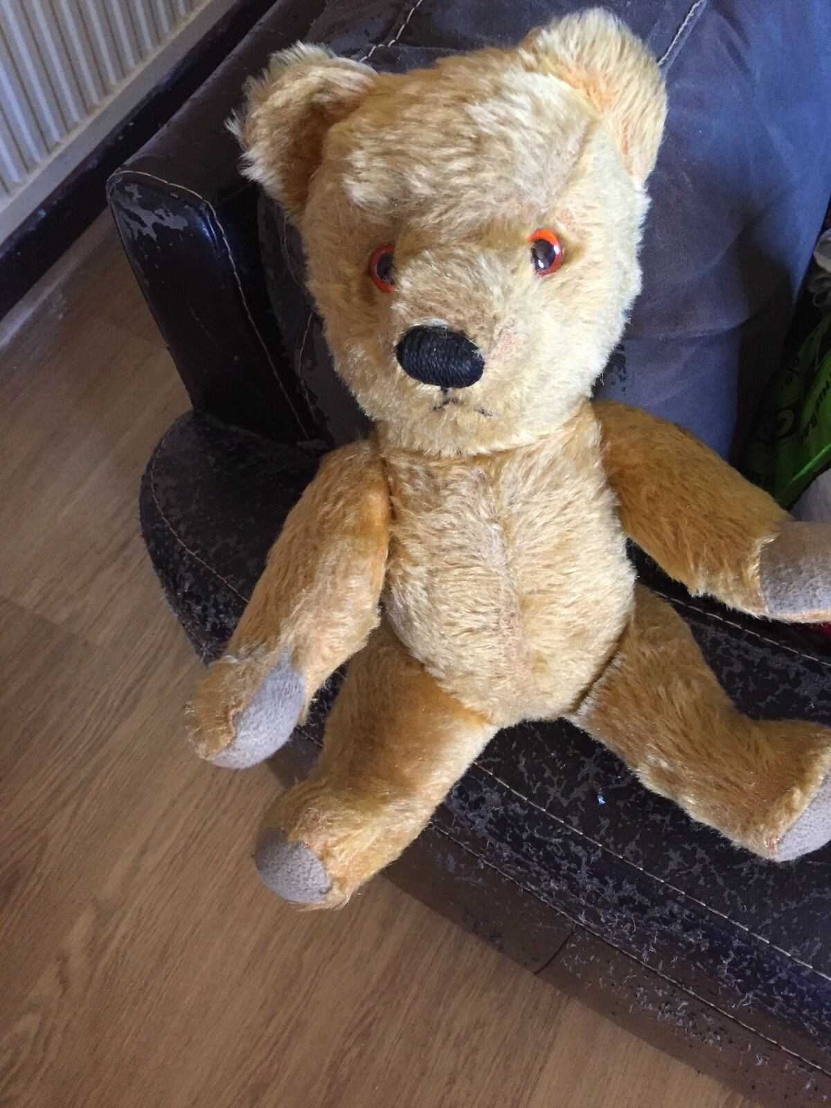 Vintage Golden moHairot Jointed Teddy Approx 16 16 16 Inch dd1e77