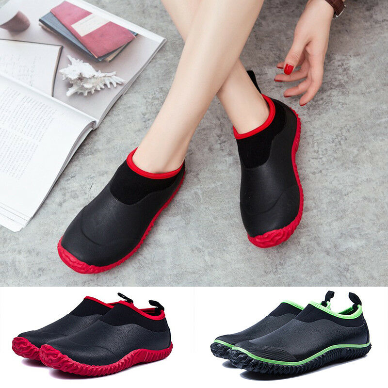Uomini donne impermeabile per fango, fango giardino le scarpe di gomma caviglia stivali nuovi