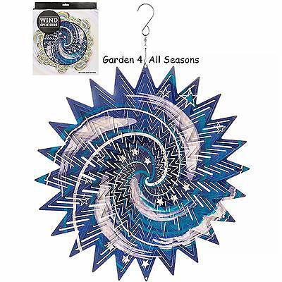 """12 """"/ 30cm Galaxy Edelstahl Windspinner Sonnenfänger Haken Garten Geschenk Rheuma Lindern"""