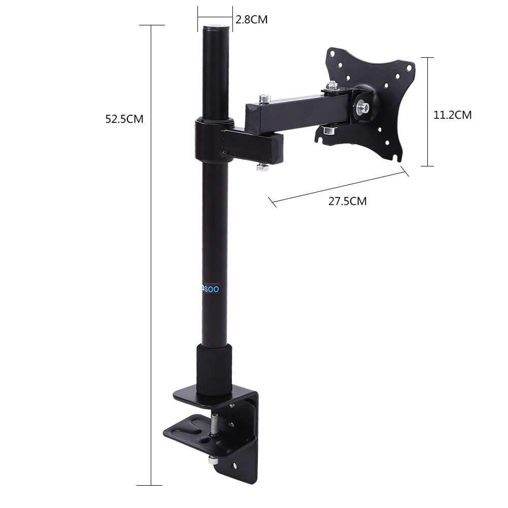 Single Arm Computer Monitor Desk Mount Stand Fully Adjule Extension Clamp