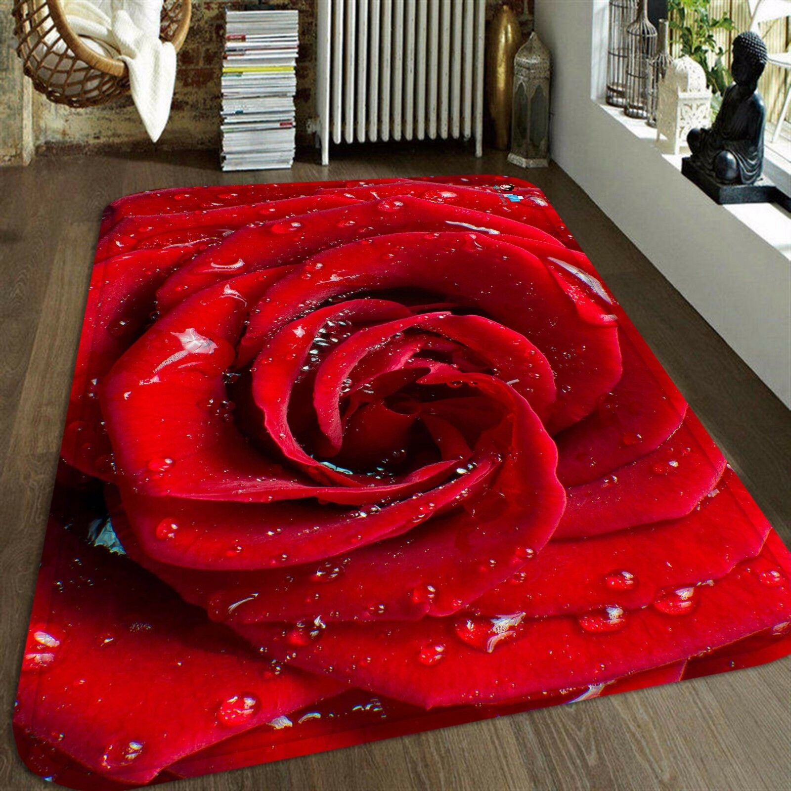 3D Rosa Dew 4 Non Slip Rug Rug Rug Mat Room Mat Quality Elegant Photo Carpet AU Summer fbc835