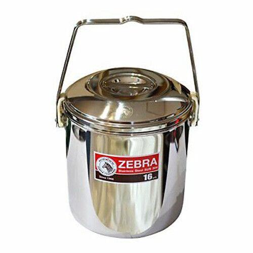 Zebra Boucle Poignée Pot en acier inoxydable Billy Can 16 cm Bushcraft Survie Camping