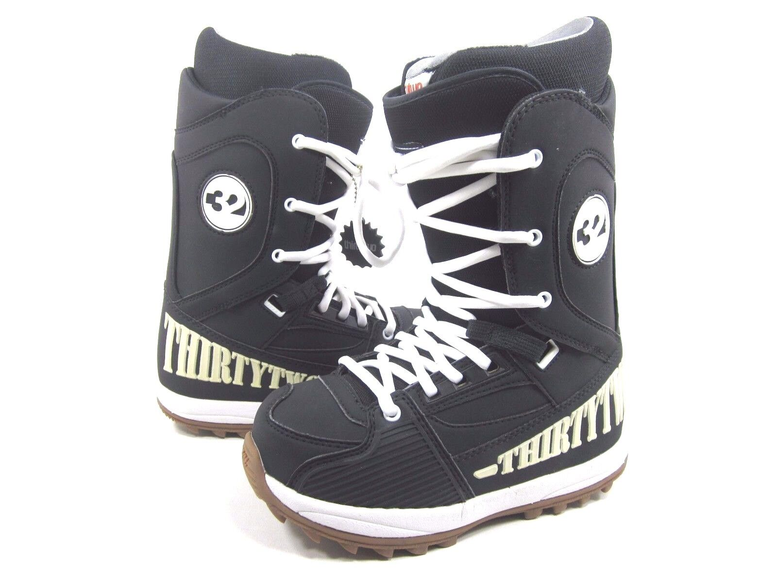 THIRTY TWO MEN'S HERITAGE SNOWBOARDING BOOTS,BLACK WHITE GUM US SIZE 5,EUR 37