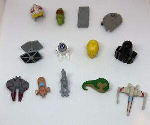 Star-Wars-Miniatures-Replacement-Parts-Force-Grab-13-Miniature-Figures-Toppers