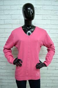 Maglione-Donna-CHAMPION-Taglia-Size-XXL-Pullover-Sweater-Woman-Cardigan-Rosa