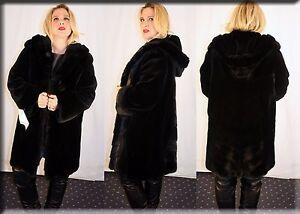 fa23788449fb Image is loading New-Hooded-Reversible-Black-Sheared-Mink-Fur-Coat-
