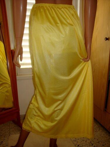 Sunburst Yellow Silky Lacy Long Formal Length Half Slip Petticoat M-L-XL  BNWT