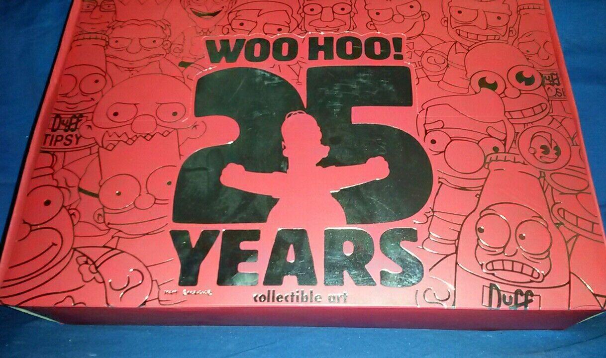 KIDROBOT SIMPSONS 25 YEARS STORE DISPLAY BOX ART