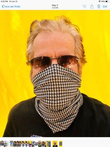 Houndstooth Multi-use Tube Scarf Bandana Head Face Mask Neck Gaiter