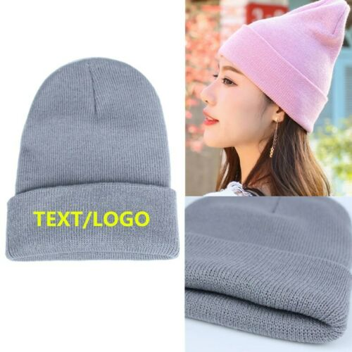 Personalized Custom Embroidery Your TEXT Ski Toboggan Knit Cuffed Beanie Hat