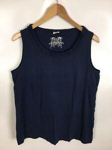 NEW-K-T-Shirt-Top-blau-Groesse-44-100-Baumwolle