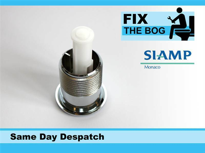 Siamp Skipper 45 Toilet Push Button Dual Flush Water Saving Chrome Homebase by SIAMP