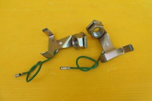 HONDA-SUPERDREAM-CB250N-CB400N-ORIGINAL-HEADLIGHT-EARTH-POINT-BRACKETS-x-2