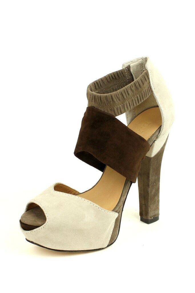 solo per te L.A.M.B. donna Norwood Marrone Cream Platform Platform Platform Sandal Heels Leather LAMB NEW  scegli il tuo preferito
