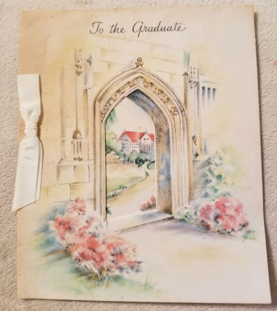 Vintage Graduate Graduation Greeting Card Hallmark Brand