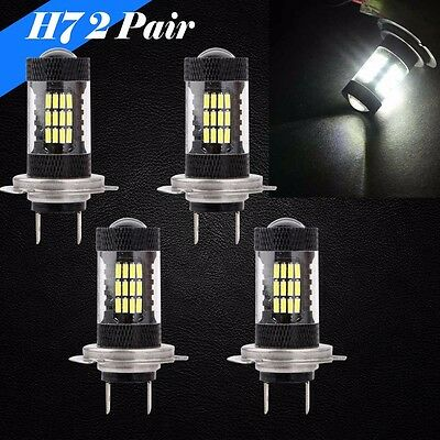 Combo 2 Pair H7 Samsung LED 57 SMD 6K White Headlight Light Bulbs High//Low Beam
