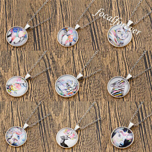 Charms-Cute-Animal-Art-Drawing-Cabochon-Necklace-Jewellery-Constellation-Gift