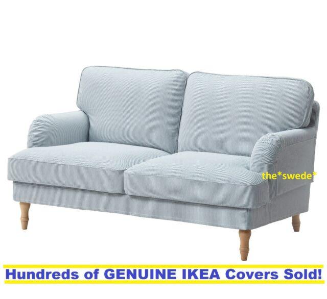 Ikea STOCKSUND Loveseat (2 Seat Sofa) Cover Slipcover REMVALLEN BLUE ...