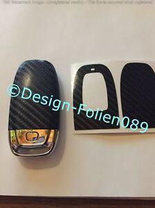 carbon schwarz 4d folie schl ssel audi 8k a3 4g rs q7 8pa4. Black Bedroom Furniture Sets. Home Design Ideas