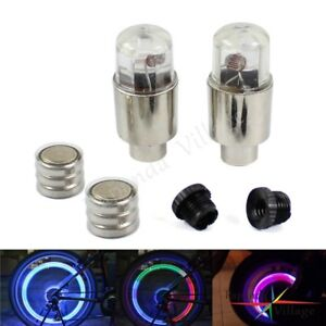 2X LED Tire Valve Cap Lamp Spoke Wheel Motor Car Bicycle Flash For Bike light ##
