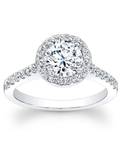 18k White Gold Filled with Sterling Silver Women Wedding Engagement Ring R209