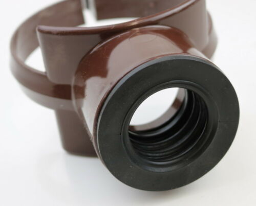 Brown Soil Pipe Strap On Boss Adaptor To Fit 110 mm Pipes