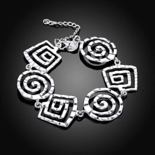 Wholesale Fashion 925 Sterling Argent Massif Bijoux Fil Lien Bracelet H324