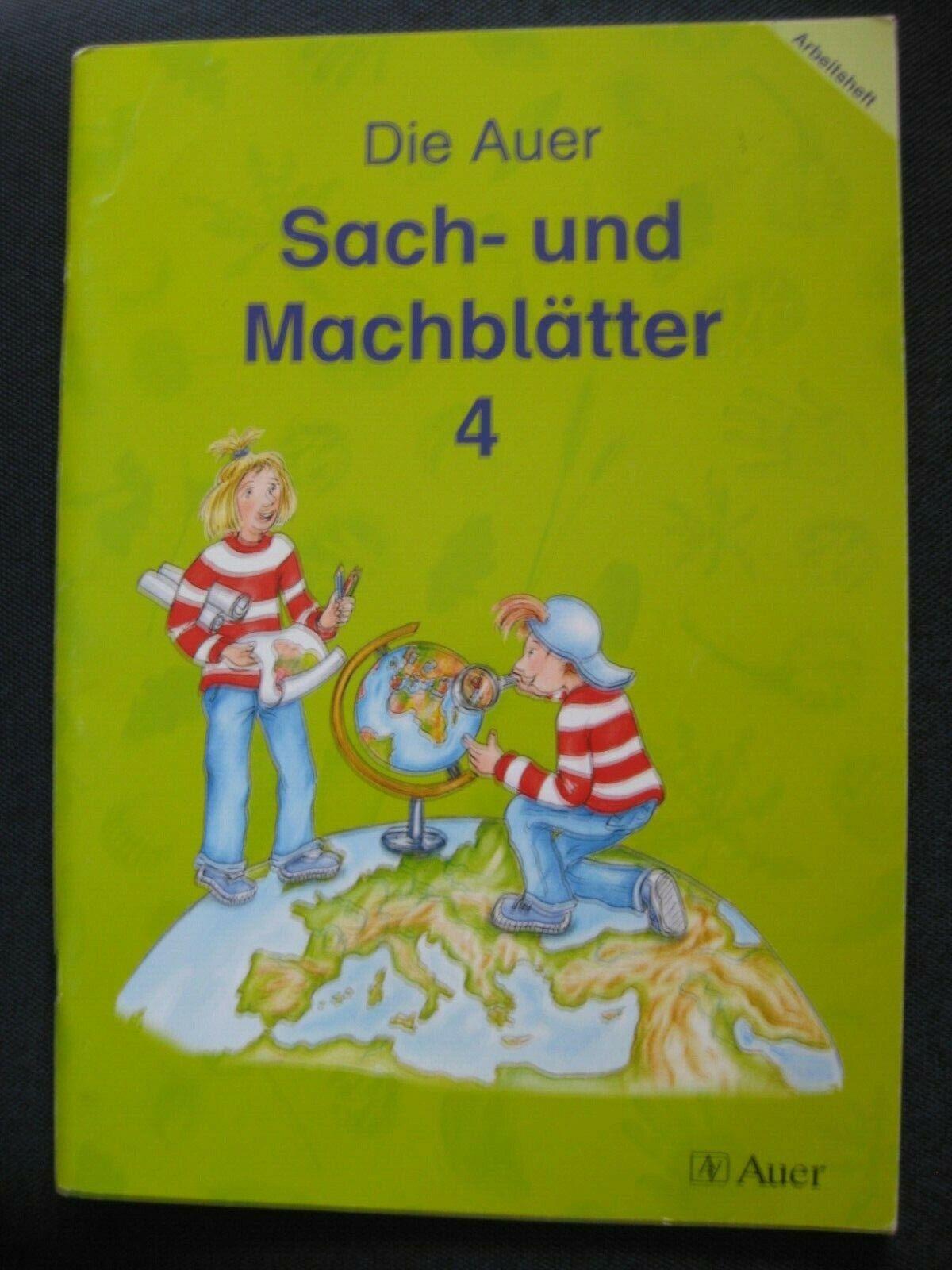 Die Auer Sach- und Machblätter 4, Arbeitsheft Sachunterricht 4. Kl. Grundschule - Dorothee Emmrich u.a.