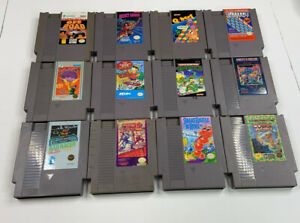 Nintendo-NES-Game-Lot-12-Carts-Pins-Cleaned-Tested-Working-Condition-As-Is
