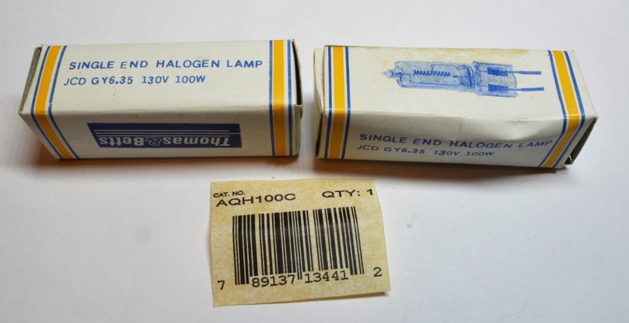 NEW ABCO Single End Halogen Lamp 100T3Q//CL JCD GY 6.35 120V 100W 04419