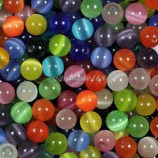 100pcs 8mm Mixed Cat's Eye Round Ball Spacer Loose Beads,approx 10 color!