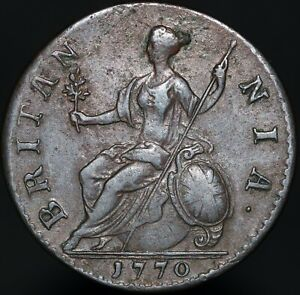 1770-George-III-Half-Penny-Copper-Coins-KM-Coins