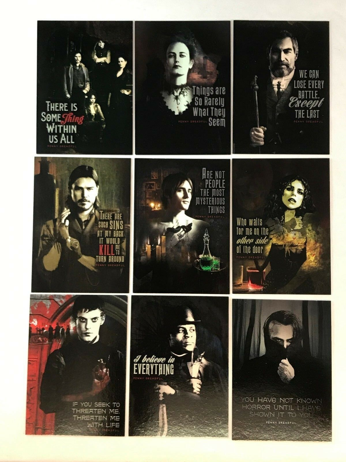 Cryptozoic 2015 PENNY DREADFUL SEASON 1 Complete QUOTABLE Chase Card Set Q1-Q9