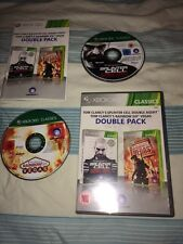 TOM CLANCYS SPLINTER CELL DOUBLE AGENT RAINBOW SIX VEGAS XBOX 360 COMPLETO