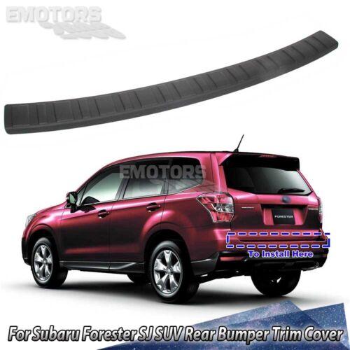 Unpainted For Subaru Forester SJ 5D SUV Rear Bumper Sill Protector Trim Cover 13