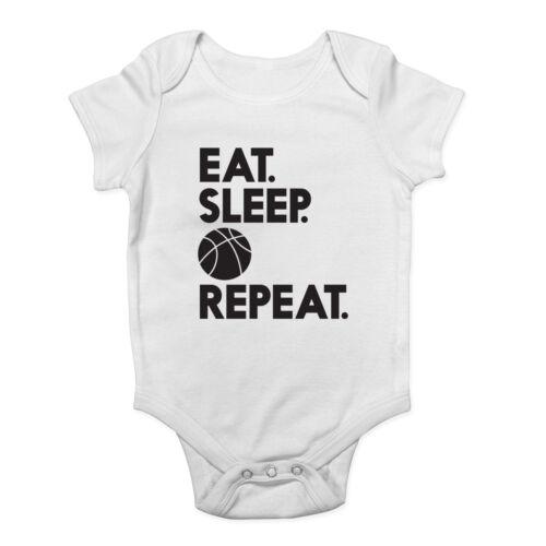 Comer Dormir Baloncesto repetir Chicos y Chicas Bebé Crecen Chaleco Body