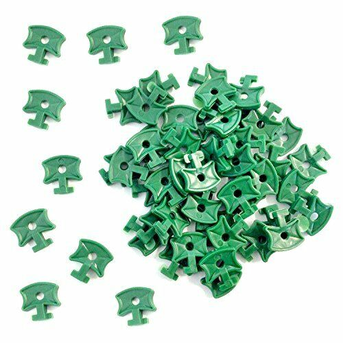 GIFT 100 Pcs Greenhouse Plastic Shading Clips Fixing Twist Clips For Aluminium G