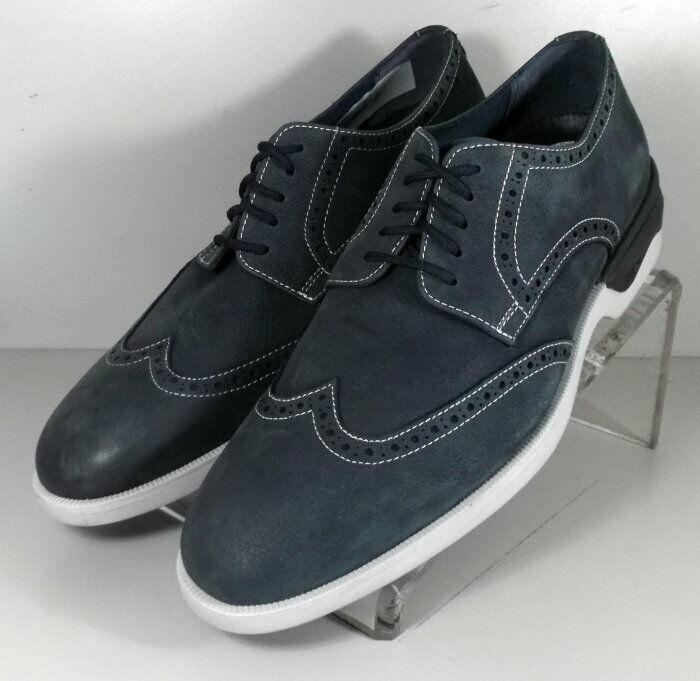 152757 SP50 Chaussures Hommes Taille 9 m bleu marine lacets en cuir Johnston & Murphy