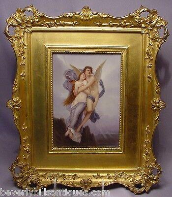 Psyche and Cupid Love Porcelain Plaque After W.A. Bouguereau