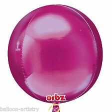 "16 ""Metallica Rosa Brillante Festa Matrimonio GLOBO ORB BALL Shape Foil Balloon"