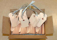 """500 manila tags inventory shipping 4-3/8"""" x 2-1/8"""" strung wire ties for 1 price"""