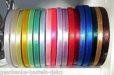 (0,10€/m)* 30m SATINBAND - 6 mm, Schleifenband Dekoband Hochzeit Taufe Satin