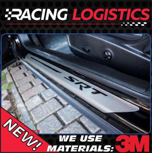 DODGE CHALLENGER SRT BRUSHED ALUMINIUM DOOR SILL PROTECTORS 6.2 HEMI V6 V8 5.7