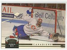 PATRICK ROY 1992-93 TSC Topps Stadium Club card #133 Montreal Canadiens NR MT